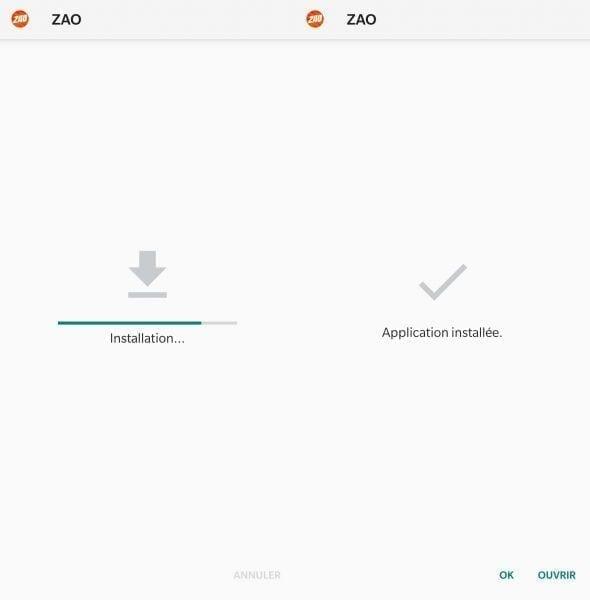تثبيت تطبيق zao